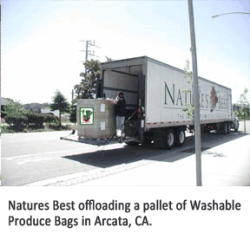 Natures Best off-loading Washable Produce Bags