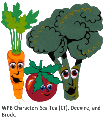 Washable Produce Bags Characters CT, Deevine, and Brock