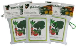 Three Original Washable, Reusable Produce Bags Sets