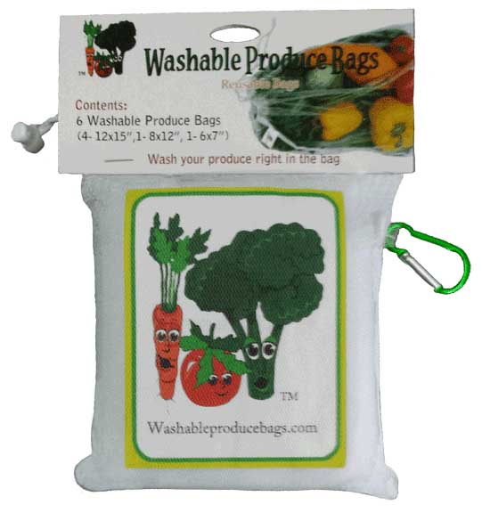 Original Washable Produce Bags Set